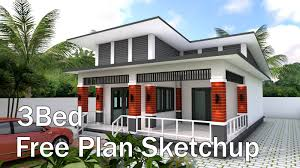 100 Housedesign Bungalow House Design 9x135 Meter With 3 Bedrooms House