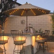 ExteriorExotic Outdoor Patio Lighting Ideas Plus Kitchen Bar Over Umbrellas With Fairy