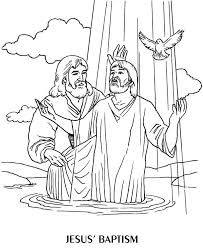 Baptism Of Jesus Kids Coloring Page