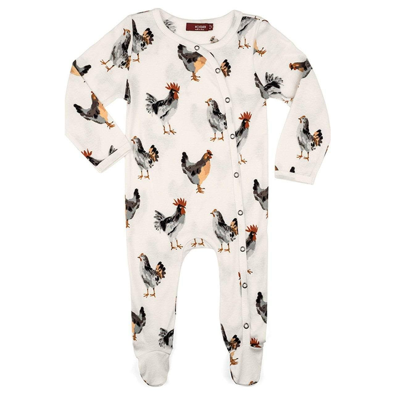 Milkbarn Organic Footed Romper Chicken / 3-6M