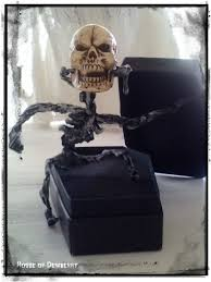 Halloween Coffin Prop by House Of Dewberry Handmade Halloween Skeleton Coffin