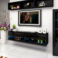 High Gloss Front LED TV Stand Modern LED Living Room Furniture Black TV Unit With 2 Drawers TV Cabinets UK Delivery 188CM Black