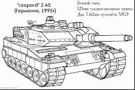 Beautiful Printable Tank Coloring Pages With And War