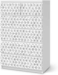 creatisto möbelfolie selbstklebend passend für ikea malm kommode 6 schubladen hoch i möbeldeko möbel aufkleber folie i wohndeko für