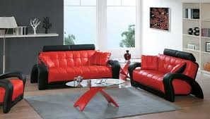Red Accent Chairs And Black Furniture For Living Room Advanes Of Applying
