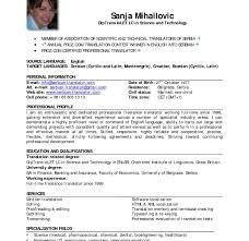 Resume Sample Format Examples Standard Business Cover Letter Inside