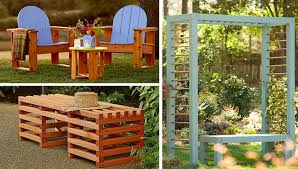 outdoor furniture and seating projects