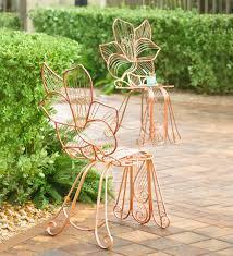 Metal Rose Indoor/Outdoor Chair, 21.65