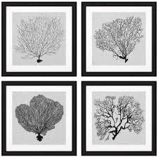 casa padrino bilder 4er set seefarn schwarz weiß grau 61 5 x h 61 5 luxus kunstdrucke mit holzrahmen