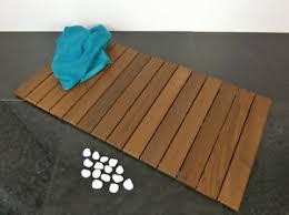 markenlose holzmatte badezimmer vorleger matten günstig