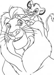 Disney Coloring Pages For Kids Lion King Cartoon