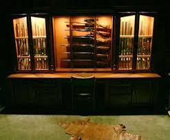Amish Cabinet Makers Arthur Illinois by Ammo And Gun Collector Arthur Amish Custom Gun Cabinet Wall Units