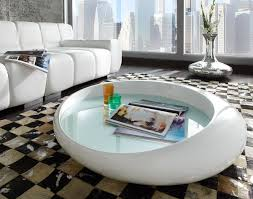 table basse design blanc laque on decoration d interieur moderne