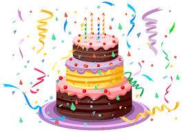 Confetti clipart birthday cake 1