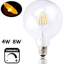 dimmable led g125 filament light bulb g40 vintage edison glass