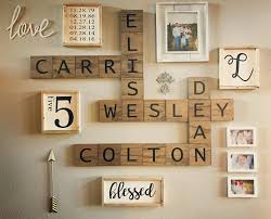 Super Scrabble Tile Distribution by A Customer Shared Her Completed Gallery Wall With The Custom Signs