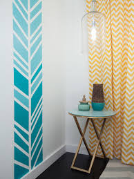 Yellow And White Chevron Curtains by Decor Interesting Interior Home Decor With Exciting Chevron Curtains