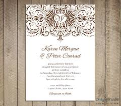 Blank Vintage And Rustic Wedding Invitation Template