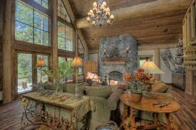 Rustic Living Room Stone Fireplace Is Hearth Pictures