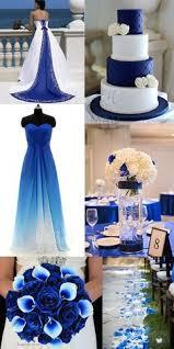 Blue And White Wedding Bridesmaid Dress