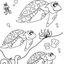Sea Turtle Migration Free Coloring Page