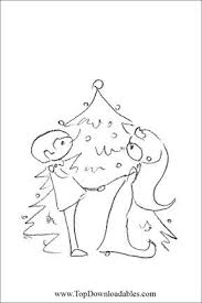 Christmas Theme Wedding Coloring Page