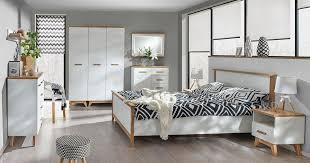 easy möbel schlafzimmer komplett set b panduros 7 teilig farbe kiefer weiß eiche braun