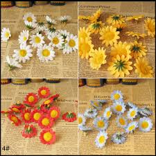 Free Shipping 100 Piece Lot Cheap Daisy Artificial Flower Corsage Hair Accessory