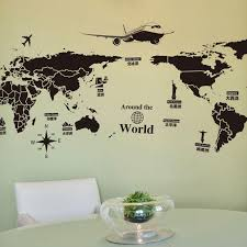 Creative Global Travel World Map Wallpaper Stickers