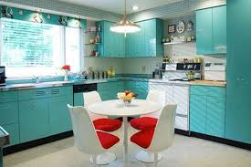 Turquoise And Red Kitchen Decor