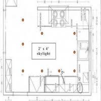 lighting layout galley kitchen
