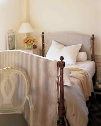 Bamboo Headboards For Beds by Slipcovered Headboard Easy Sewing Project Martha Stewart Living