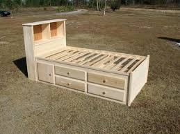 Platform Bed Plans Twin by Captains Bed Plans Twin Size Captains Bed Is 39 Inches Wide And