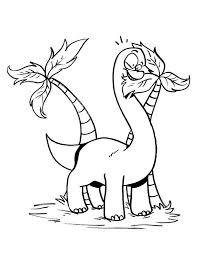 Brachiosaurus Eating Palm Tree Coloring Page