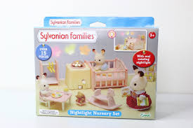 Calico Critters Master Bathroom Set by Nightlight Nursery Set Sylvanian Families Youtube
