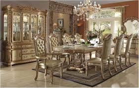 Astonishing Gold Formal Dining Table Set Room Sets With Buffet