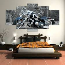 Wall Mirrors Panel Hd Printed Painting Harley Davidson Canvas Home Decor Art Picture For