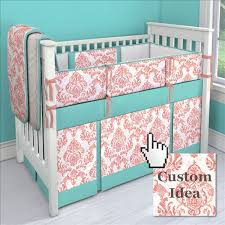 Teal And Coral Baby Bedding by Coral Crib Bedding Carousel Designs