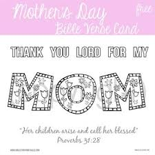Mothers Day Scripture Card From Kids