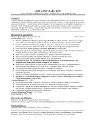 Sample Resume For Store Manager Position New Retail Supervisor Grocery