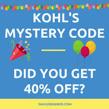 Kohl's Mystery Code: Did You Get A Kohl's 40% Off Code ... Kohls Coupon Codes This Month October 2019 Code New Digital Coupons Printable Online Black Friday Catalog Bath And Body Works Coupon Codes 20 Off Entire Purchase For Promo By Couponat Android Apk Kohl S In Store Laptop 133 15 Best Black Friday Deals Sales 2018 Kohlslistens Survey Wwwkohlslistenscom 10 Discount Off Memorial Day Weekend Couponing 101 Promo Maximum 50 Oct19 Current To Save Money