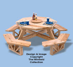 all yard u0026 garden projects octagon picnic table woodworking plan