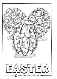 Decorated Easter Eggs Colouring Picture