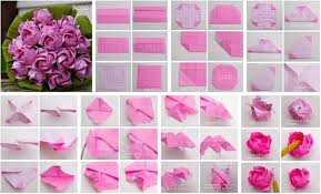 How To Make Paper Flower Origami Best Photos Of Diy Roses Easy Rose