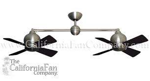 metropolitan double ceiling fan satin steel 2 x 24 sweep the