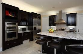 Kitchen Outstanding Kitchen Colors With Dark Cabinets Maple