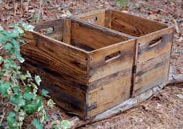 Wooden Crates Reclaimed Wood Apple Rustic Crate