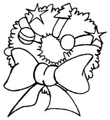 Poinsettia Flower For Wreath Crhistmas Ornament With Balls And Other Accessories Coloring Pages