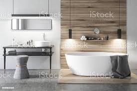 weiß und holz luxusbadezimmer stockfoto und mehr bilder architektur