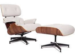 Eames Lounge Chair + Ottoman Ivory White | Collector Replica Eames Lounge Chair Ottoman Replica Aptdeco Black Leather 4 Star And 300 Herman Miller Is It Any Good Fniture Modern And Comfort Style Pu Walnut Wood 670 Vitra Replica Diiiz Details About Palisander Reproduction Set